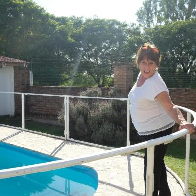 Argentinian host mother ready to receive volunteers.